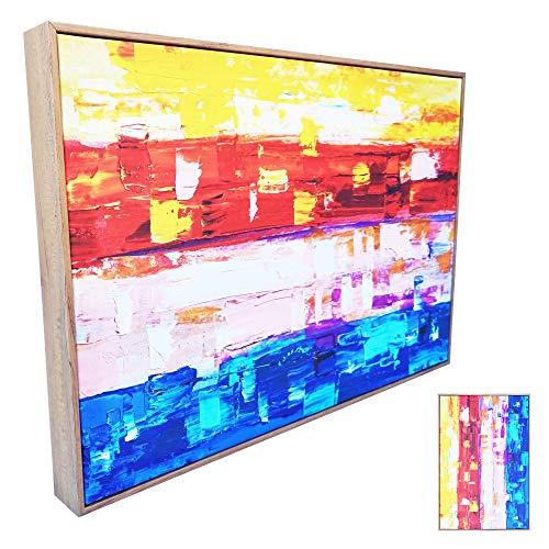 Decorflix Tapa de contador de luz Vertical Horizontal Grande. Cuadro Cubrecontador eléctrico decorativo. Exterior: 60x40x4,9cm. Interior: 53,5x33,5x4,5cm. Marco de plastico efecto madera
