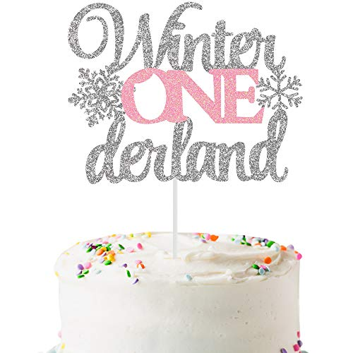 Winter Wonderland Christmas Decorations Snowflake Cake Topper First Birthday One Cake Topper 1st Birthday Girl Decoration