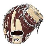 ローリングス(Rawlings) 野球用 軟式 HOH® MLB COLORSYNC [キャッチャー用] ミットサイズ33.0 GR1HM2AC シェリー/キャメル サイズ 33 ※右投用