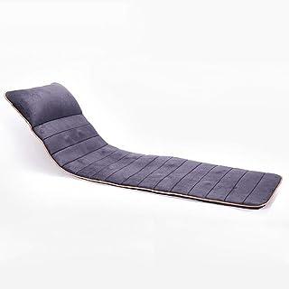 Shiatsu cojín de masaje, Masaje estera de cuerpo completo, masaje de silla for Mat, Shiatsu Volver masajeador con calor, 10 Jefes de masaje (Color : Gray)