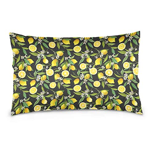 Rghkjlp Kissen Case Lemon Fruits Pattern Cushion with 20 x 30In for Home Decoration Sofa and Chairs