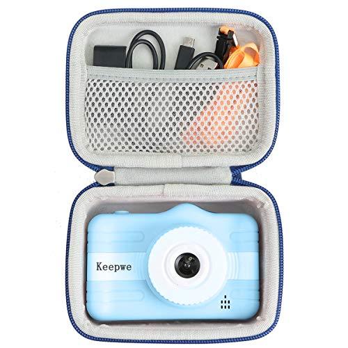 Khanka Hart Tasche für YUNKE / X-LIVE Kinderkamera Digitale Kamera Bildschirm 3,5 Zoll Bildschirm Weihnachten Neujahr Geburtstag Festival Spielzeug Geschenk.(Blau)