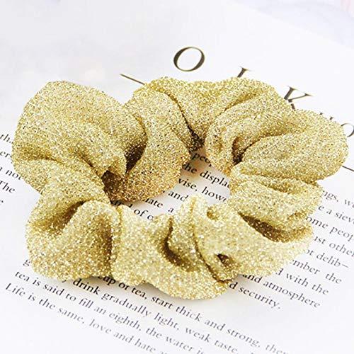 Meiw ondenkbare 1 Pc Nieuwe Paardenstaart Houder Effen Haarband Haaraccessoires Koreaanse Glitter Dames Scrunchie Haar Touw Mode Vrouwen Haar Ties