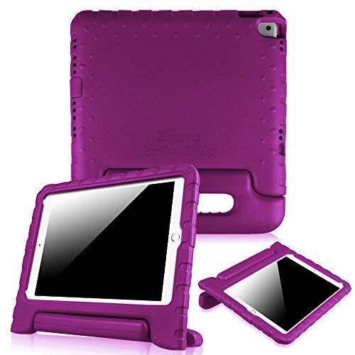 Fintie Case for iPad 9.7 Inch (2017) / iPad Air 2 - Kiddie Series Light Weight Shock Proof Convertible Handle Stand Cover for iPad Air 2, iPad 9.7 Inch 2017, Purple