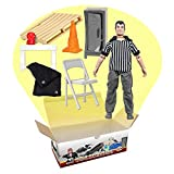 Wrestling Referee & Gear Action Figure Accessory Kit for Wrestling Action Figures
