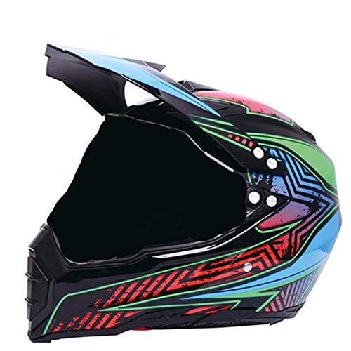 Volledige gezicht mountainbike helm motorhelm fiets motorfiets reizen helm