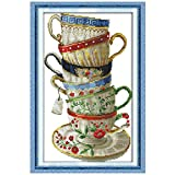 Elegante Kaffeetasse Kreuzstich 11CT Printed 14CT-Kreuz-Stich-Sets Chinese Kreuzstich Kits For Stickerei Needlework (Cross Stitch Fabric CT number : 14CT picture printed)