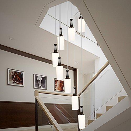 Amos Lámparas Moderna Sala de Estar Minimalista iluminación Restaurante Creativo Escalera de Caracol Luces arañas