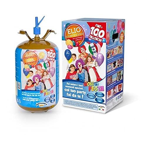 REPLOOD Kit de bombona de gas helio con globos de colores de 20 cm para fiestas de cumpleaños y fiestas, listo para usar (100 globos)