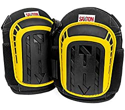 Saxton SSKPBY Professional knee pads with durable foam padding and comfortable gel for work, gardening, home improvement, construction, flooring and cleaning