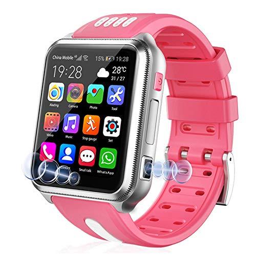 LINTRY 4G Smartwatch Kinder GPS Uhr Kinder Wasserdicht(SIM-frei), Handy Uhr mit Zwei Kameras Touchscreen Voice Chat Wecker Schulmodus Schrittzähler für Jungen Mädchen Student Geschenk(8G+32G)