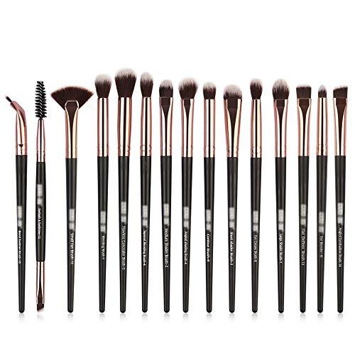 Professionnel Œil Pinceaux de maquillage Set Fard à paupières Cil Sourcil Eyeliner 12pcs Brosses cosmétiques Kit Doux (Color : Noir, Size : Onesize)