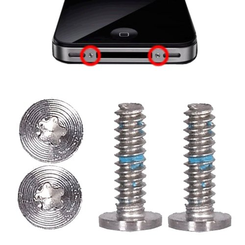 BisLinks Sostituzione Set di 2 viti a pentalobo per cover posteriore di iPhone 4 e 4S