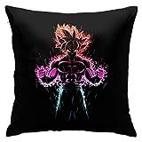 YIEASY Pillowcase,Ultra-Instinct Go-Ku Dra-Gon-Ball-Z Throw Pillow Cover,Funny Cute Cushion Covers for Home Sleeping,18 X 18 inch/45 X 45cm