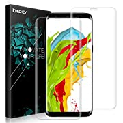 Galaxy S8 Plus Screen Protector - [2 PACK] ICHECKEY [100% Case Friendly] [3D Full Adhesive Coverage] Ultra Thin HD Clear TPU Film Screen Protector Cover for Samsung Galaxy S8 Plus/S8+