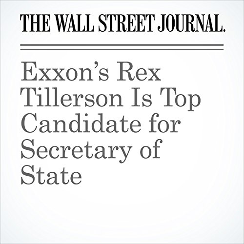 Exxon's Rex Tillerson Is Top Candidate for Secretary of State cover art