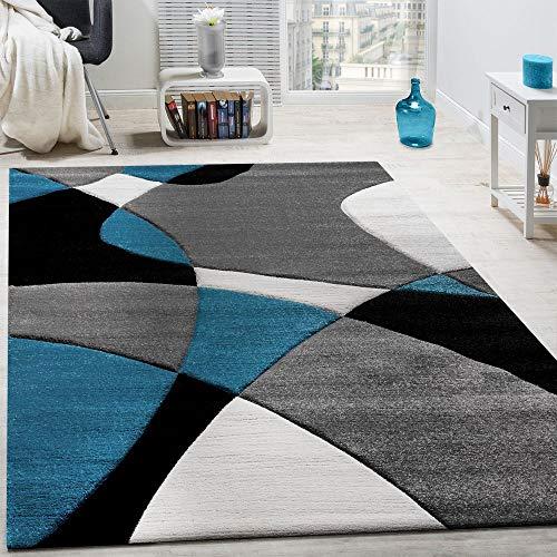 Paco Home Tappeto di Design Moderno Motivo Geometrico Taglio...