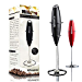 PowerLix Milk Frother Handheld Battery Operated Electric Foam Maker For Coffee, Latte, Cappuccino, Hot Chocolate, Durable Drink Mixer With Stainless Steel Whisk, Stainless Steel Stand Include (Renewed)