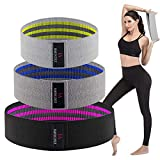 Women's Exercise Resistance Workout Bands - Hip Weights Band Sets for Legs and Arms, Heavy Loop Band for Butt Training Pilates Stretching Physical Therapy Yoga Home Fitness Gym Crossfit