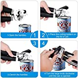 Adoric Can Opener, 3-in-1 Manual Can Opener, Stainless Steel Smooth Edge Can Opener with Ultra Sharp Cutting, Ergonomic Designed Comfort Grips Great for Seniors with Arthritis (Medium, Silver)