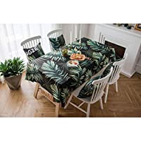 テーブルクロス 北欧スタイルのコーヒーテーブルレンガ模様のテーブルクロスのフクシアのテーブルクロス量ポリエステル無関係のテーブルクロス (Color : Green, Size : 135*220)