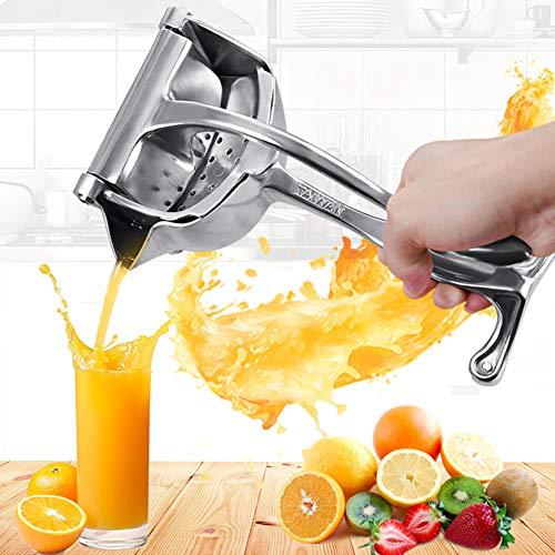 Fruchtsaftpresse Zitrone Orange Squeezer Extractor Edelstahl tragbare manuelle Quetschwerkzeug einfach zu bedienen für Zuhause