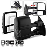 ACANII - For 2008-2016 Ford F250 F350 SuperDuty Telescoping Power Heated w/Smoked Lens Signal Towing Mirrors Left+Right