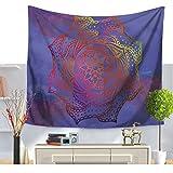 Kinps–Mandala flor Ombre Style espiral de tapiz floral hippie pared Alfombras cama Dormisette Decoración india Mandala Pared De böhmischen Colcha, multicolor, 59*79in