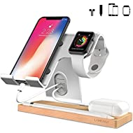 LAMEEKU Cell Phone Stand Compatible with iPhone and Android, Desktop Stand Holder Dock for iPad...