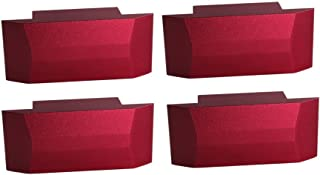 DEWHEL Red Bolt on Premium Lift Pad Jack Pad Adapter Aluminum For Mustang 5th 6th Gen 05-18 Jack Points