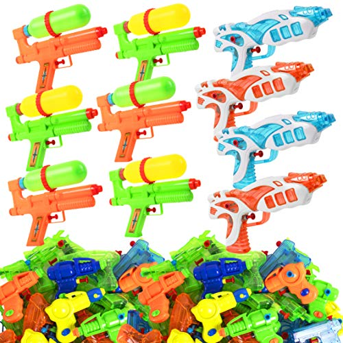 Narwhal Novelties Water Gun (50-Pack) Squirt Gun Assortment; Water Guns for Kids & Squirt Guns for Kids