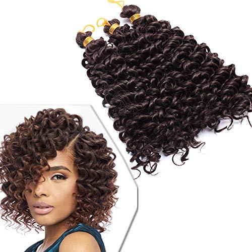 3pcs Meches Pour Tresses Africaine Synthétique - 8 Pouces, Brun Moyen - Mèches Braids Crochet Extension Crochet Braid Cheveux Frissé