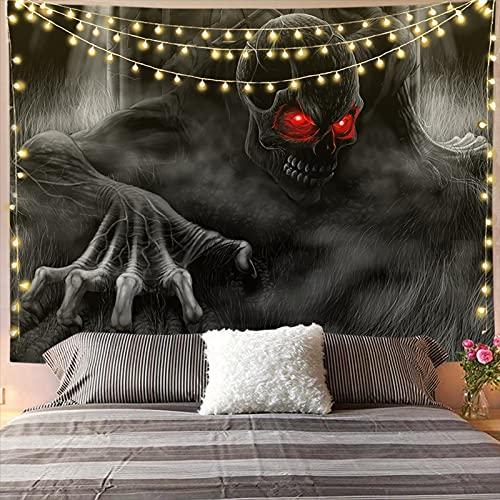 YDyun Tapisserie Wandbehang Home Decor Wandteppiche Wandkunst für Zimmer Hängendes Tuch Dekoration Baum Meer Silhouette Drucken