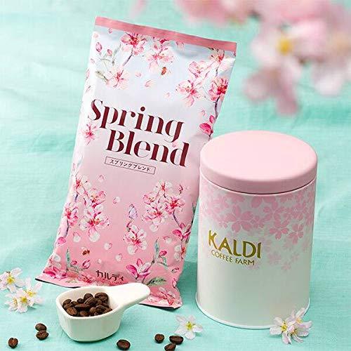 KALDI(カルディ)春のキャニスター缶&コーヒー豆、メジャースプーンセット(限定品)