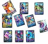 KUAISHAWO Cartas Pokemon Vmax, Caja de Juego de Cartas de Rompecabezas de Intercambio Flash, Tarjetas de Intercambio GX 20 Cartas (42V+18VMAX