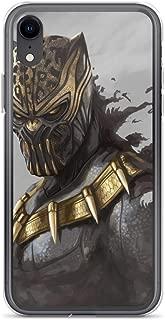 iPhone XR Pure Anti-Shock Clear Case Black-Panther Erik Killmonger King of Wakanda Africa Stan Lee Movie Shield Avengerss Comic Superhero