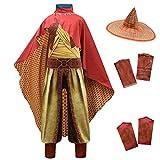 Lito Angels Raya and the Last Dragon Disfraz para niños y niñas, disfraz de Halloween para fiesta de disfraces C (mono con sombrero de bambú y capa roja) Edad 3-4 años multicolor 294