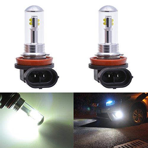 TUINCYN Lampadine LED CREE 8 SMD Canbus super luminose da 1500 lumen, adatte per H11 H8 H9, senza errori, utilizzate per luci di marcia diurne, impermeabili, bianco 6000K (confezione da 2)