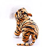 Dr.NONO Tiger Costume - Cosplay Costume for Dogs and Cats - Yellow and Black Velvet Pet Clothes - Warm Apparel Winter Pet Costume - Dog Outfits for Christmas, Cosplay and Birthday Parties