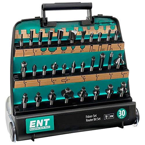 ENT 09030 30-tlg. HM Fräser Set in hochweriger Kunststoffkassette - Schaft 8 mm