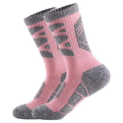 2 Pares Calcetines Mujer Senderismo Calcetines para Trekking Transpirable, Alto Rendimiento,Térmicos, Transpirables,...
