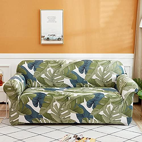 Funda de sofá con Estampado geométrico nórdico Four Seasons Funda elástica a Cuadros Tight Wrap Funda de sofá elástica Universal A18 4 plazas