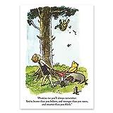 Winnie the Pooh Vintage Quote print, Disney, Poster, Gift, Nursery, Kids bedroom, Bear, Inspirational, Baby, UNFRAMED