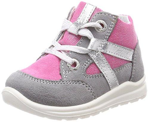 Superfit Baby Mädchen Mel Sneaker, Grau (Smoke Kombi), 21 EU