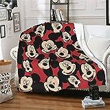 Manta de Mickey Mouse Minnie Supersuave y cómoda, mullida y mullida, de lujo, de felpa cálida, de microfibra, para dormitorio, sofá, cama, para uso en todas las estaciones, fácil de cuidar, 50 x 40