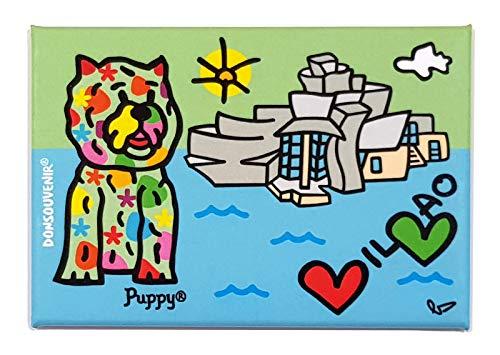 DONSOUVENIR MAGNETICO Puppy Bilbao Corazones IMAN
