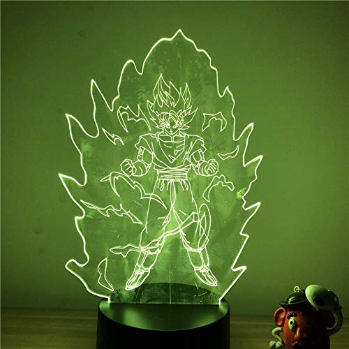 3D LED Nachtlicht Dragon Ball Z Goku Super Saiyajin Action Abbildung 7 Farben Touch Optische Täuschung Tischlampe Home Decoration Mode
