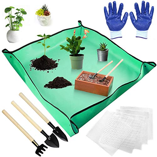pflanzmatte,Wasserdichtes Gartenmatte,Garten Gartenmatte,PE Gartenarbeit - Gartenmatte,Gartenmatte aus Kunststoff,Pflanzengarten Mat Pad (A)