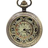 LYMUP Reloj de Bolsillo, 12 Collares zodiacos Colgante...