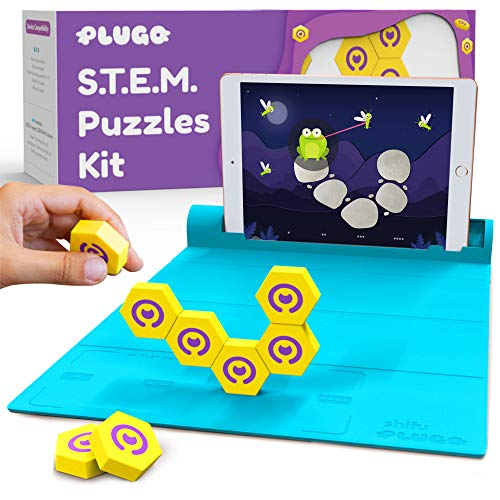 Shifu Plugo Link - Magnetic Building Blocks Kit with STEM Puzzles for Kids Ages 4-10 Year (App Based, Device Not Included) Yellow